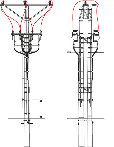 Conduit In Concrete Pole : Maststationen und konstruktion der freileitungen