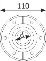 View and dimensions of the low voltage duct (GPK- 110)